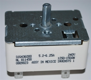 """Picture of Frigidaire Surface Elem Switch 6"""" Part # 316021500"""