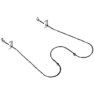 Picture of Oven Bake Element for Frigidaire Part # 316225000 (ERB837)