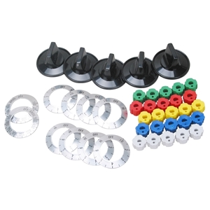 Picture of Aftermarket Knob Kit, Universal Electric Range Part # KN002
