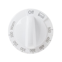 General Electric Oven Thermostat Knob (White) Part # WB03X22562