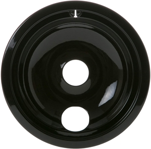 """Picture of GE 8"""" Drip Pan - Black Porcelain WB31T10015"""