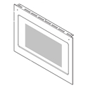Frigidaire Wall Oven Lower Oven Door Outer Panel (Black and Stainless) 5304510854